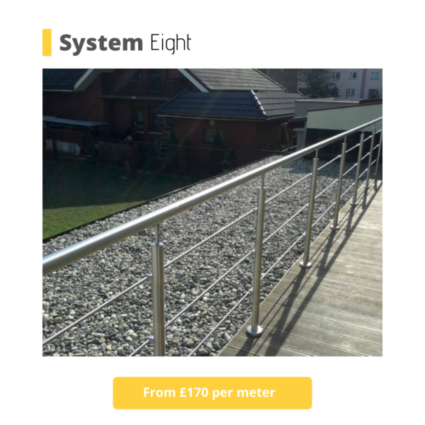 Lee on the Solent stainless steel railings