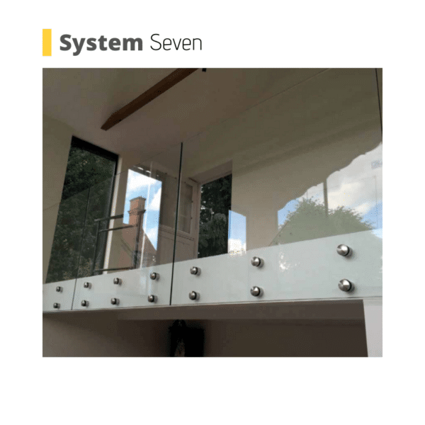 Bournemouth button glass balustrade system